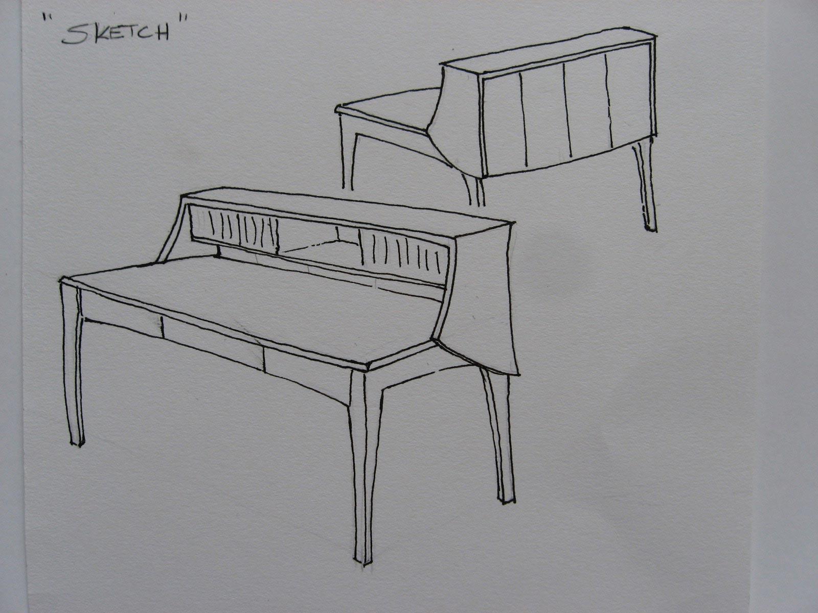 Ash Desk Sketch