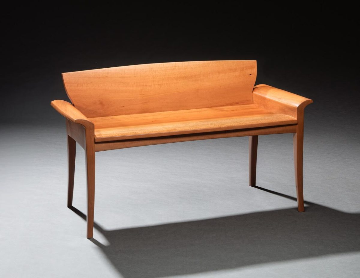 """Swiss Pearwood Bench"" by Ted Blachly"